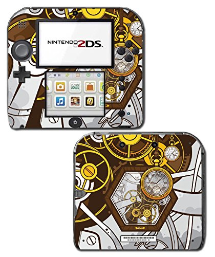 Retro Steampunk Time Machine Pocket Watch Art Video Game Vinyl Decal Skin Sticker Cover for Nintendo 2DS System Console 3