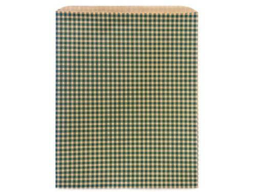 12x15'' Hunter Gingham Recycled Merchandise Bags 35lb (Unit Pack - 500) by Better crafts