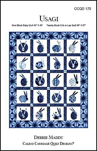 "Usagi Baby/Lap Quilt Pattern for 9 Blocks (45"" x 45"") Or 20 Blocks (56"" x 67"")"