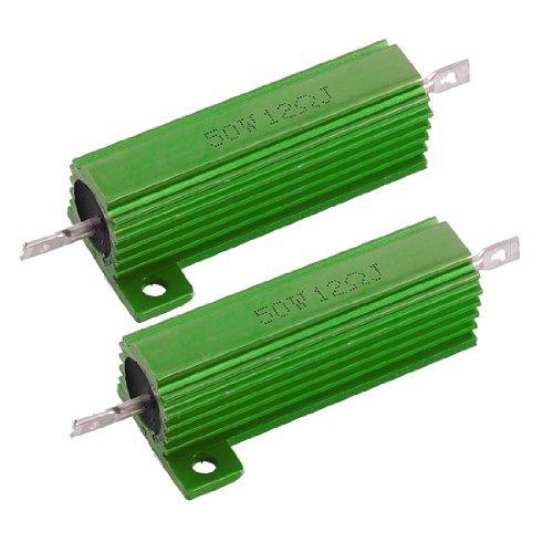 2x 12/Ohm Screw Tap Mounted Aluminum has Wirewound Resistors 50/W