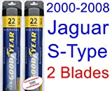 2000-2008 Jaguar S-Type Replacement Wiper Blade Set/Kit (Set of 2 Blades) (Goodyear Wiper Blades-Assurance) (2001,2002,2003,2004,2005,2006,2007)