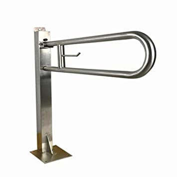 Toilet Grab Bar Safety Rail Flip Up Bathroon Safety Handrail Support  Stainless Steel,Floor