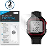 Garmin Forerunner 25 Black/Red Screen Protector, BoxWave [ClearTouch Crystal (2-Pack)] HD Film Skin - Shields From Scratches for Garmin Forerunner 25 Black/Red, 25 Black/Blue