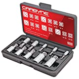 CARBYNE 10 Piece XZN Triple Square Spline Bit Socket Set, S2 Steel Bits | Metric 4mm - 18mm