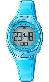 Correa Calypso Cuarzo Plástico De Con Mujer En Digital Reloj Para wONnyvm80