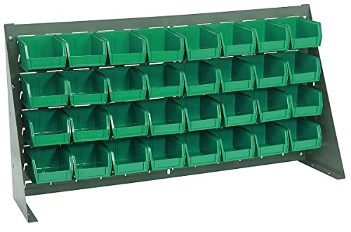 Quantum Storage Systems QBR-3619-210-32 Bench Racks & Louvered Panels With Bin Complete Unit Green