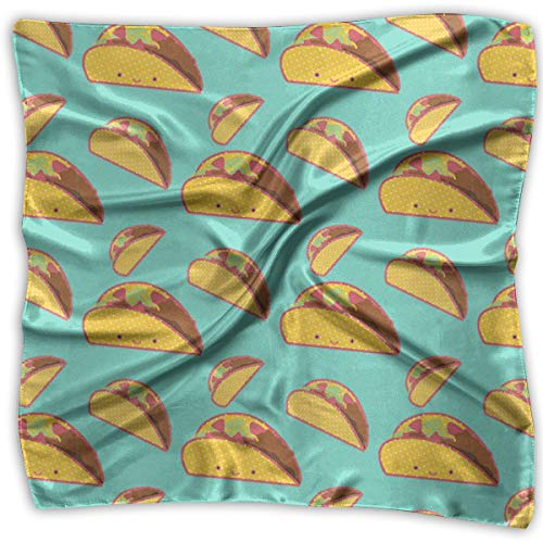 (Polyester Lady's Handkerchief Scarf Women¡¯s Taco I Don't Know Square Satin Headscarf)
