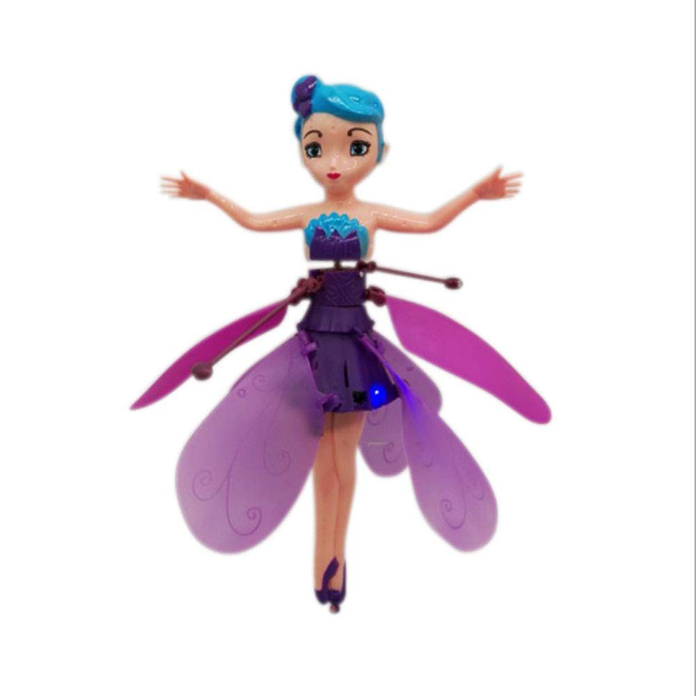 tupretty Flying Fairy Doll Girl Infrared Sensor Control Remote Control Helicopter Child Toy Teen Toy Ballet Girl Flying Princess Doll,15.5 X 5.5 X 14cm by tupretty