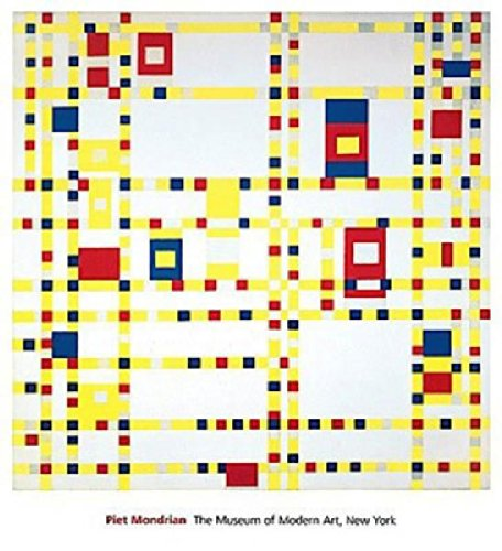 Broadway Boogie Woogie by Piet Mondrian Abstract Metallic Warm Colors Print Poster 11x14 (Boogie Mondrian Piet Broadway Woogie)