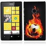 Cadorabo - TPU Hard Cover per Nokia Lumia 520 - Case Cover Involucro Bumper Accessorio in Design: PALLONE