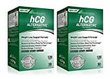 Biogentic Laboratories hCG Alternative Weight Loss Formula 2 Pack | 60 Day Supply (120 Capsules per Bottle) Bonus Diet Plan Included | Hormone- Free, Stimulant- Free