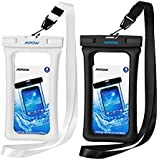 """Mpow Floating Waterproof Case, IPX8 Universal Waterproof Phone Pouch Underwater Dry Bag for iPhone X/8/8plus/7/7plus/6s/6/6s plus Samsung galaxy s9/s8 Google Pixel HTC up to 6.0"""" (Black, White)"""