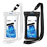 Mpow Waterproof Phone Pouch Floating, IPX8 Universal Waterproof Case Underwater Dry Bag Compatible for iPhone X/8/8plus/7/7plus/6s/6/6s Plus Galaxy s9/s8 Google Pixel HTC up to 6.0'' (Black, White)