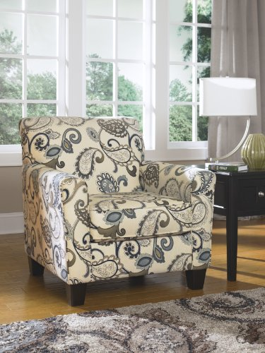 Yvette Contemporary Grey Fabric Accent Chair