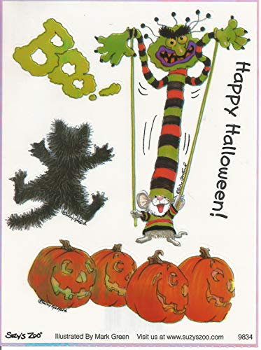 (Suzy's Zoo Happy Halloween Boo! Herkimer Mouse Iridescent Stickers)