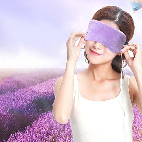Velvet Pouch Padded - Hongxin Sleep Mask USB Heating Steam Eyeshadow Lavender Eye Mask Anti Dark Circle Patch Eye Massager Fatigue Relief Travel Shade Sleep Eyes Health Protector Tool Mothers Day Gift (B)