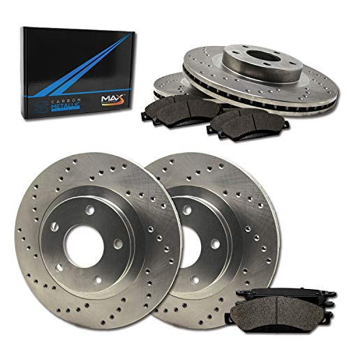 ear Performance Brake Kit [ Premium Cross Drilled Rotors + Metallic Pads ] TA009923 | Fits: 2001 01 2002 02 VW Jetta Wagon GLS Turbo/GLS VR6 / GLX 288mm Dia Front Rotors ()