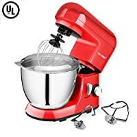 CHEFTRONIC Mini Stand Mixer SM-985, 550W 6 Speeds Tilt-head Kitchen Electric Mixer 3.8 Quart Stainless Steel Bowl with Pouring Shield for Mother's Day, Xmas, Wedding, Thanksgiving, Birthday Gift