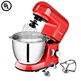 ingredient mixer - CHEFTRONIC Stand Mixer SM-985, 550W 6 Speeds Tilt-head Kitchen Electric Mixer 4.2 Quart Stainless Steel Bowl with Pouring Shield for Mother's Day, Xmas, Wedding, Thanksgiving, Birthday Gift