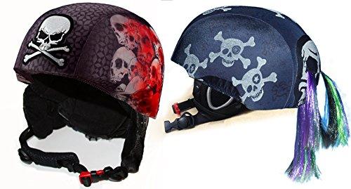 Fun Helmet Cover bundle Screaming Skulls And Skullz N' Bones by CrazeeHeads