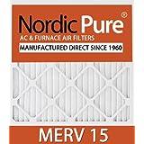 Nordic Pure 20x25x5L2M15-2 Lennox X6675 Replacement MERV 15 Furnace Air Filter, Quantity 2