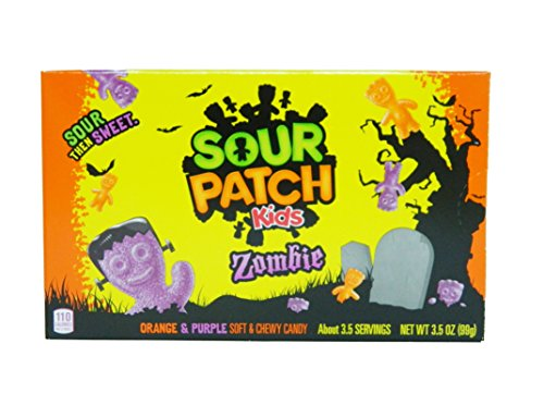 Sour Patch Kids Zombies Sweet and Sour Gummy Halloween Candy 3.5 Ounce Box -