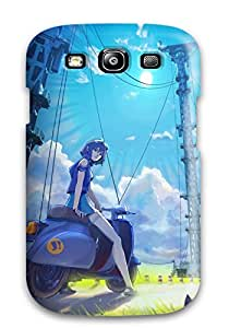 High Impact Dirt/shock Proof Case Cover For Galaxy S3 (anime Scooterwer Line Eureka Seven)