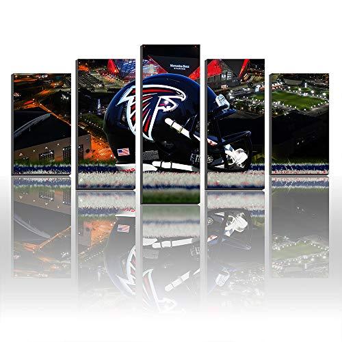 Atlanta Falcons Helmet Wall - NFL Atlanta Falcons Team Helmet Football Unframed Giclee Canvas Prints Painting Acrylic Landscape Home Artwork Decor Gifts (Size2 frameless(unstretched))