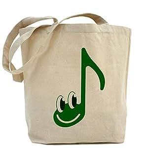 LVSURE happy face music Tote Bag Canvas bag Shopping Bags - Standard Multi-color Personalised Fabric Printed Tote Bag custom bag personalized tote bag