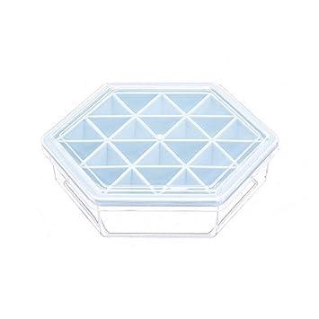Amazon.com: Molde de plástico hexagonal para hielo, caja de ...