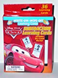 Disney Cars Subtraction Learning Cards with Dry Eraser Write on Wipe Off