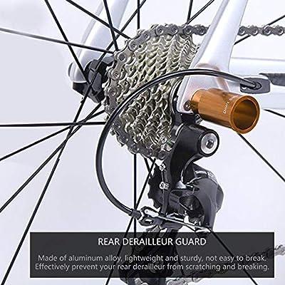 Bicicleta Desviador Protección,Desviador Trasero Cambio Protector de Bicicleta de Carretera de Montaña de Ciclismo de Aleación de Aluminio Guardia de Protección de Cambio Trasero 60mm(Oro): Amazon.es: Deportes y aire libre