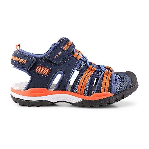 Geox Sandalia J720RC 5014 C0659 Naranja-Azul marino