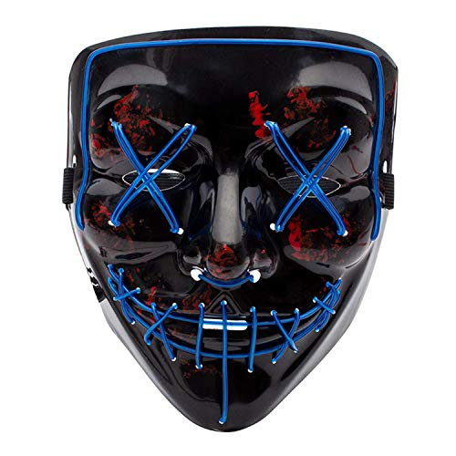 Halloween Horror Nights Purge Anarchy (Qhome LED Light up Purge Mask for Festival Cosplay Halloween)
