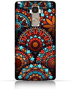 LG G4 Stylus TPU Silicone Case With Geometrical Madalas Pattern Design