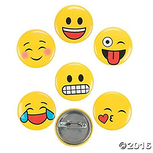 Emoji Mini Buttons - 48 pc - Face Mini Button