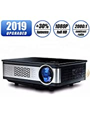 Home Theater Projector,HDEYE Native 1080p Full HD LED Video Projector - Up to 165 Inch Size Big Screen,3000 Lumens,Compatible with Fire TV Roku Sticks,USB,DVD,SD,PS4,Laptop (Black)