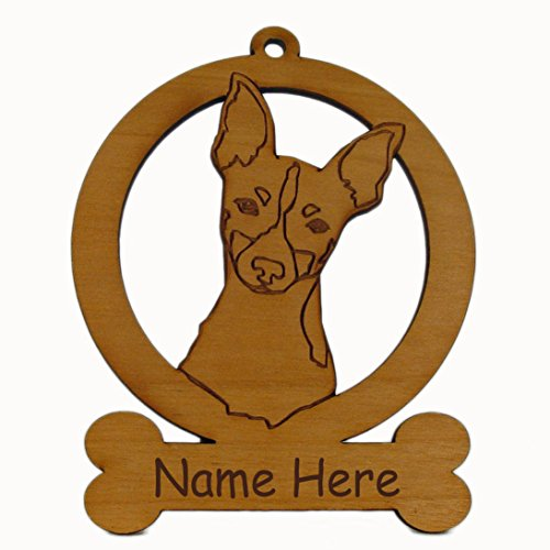 Toy Fox Terrier Head Dog Ornament 084183 Personalized With Your Dog's Name