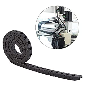 Cable Drag Chain Wire Carrie 10mmx10mm Black Nylon Drag Chain Cable Carrier for 3D Printer or CNC Router Machine Tools from Yosoo