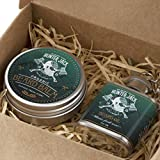 Beard Oil & Beard Balm Deluxe Kit for Men - 100% Natural Ingredients for Best Beard Care - Mustache Grooming, Beard Growth and Styling - Signature fresh manly scent - Premium Gift Box - Free eBook