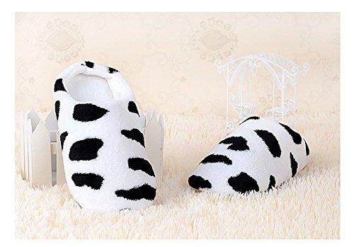 Chaussons Et Pantoufle Peluche Femme en Automne 40 Pantoufle Hiver pour Courte Chaud Paire Cosanter Vaches Mignon 1 38 H6Iqgg