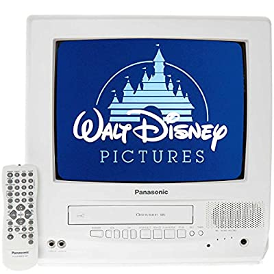 "Panasonic PVQ-1312W 13"" TV/VCR Combo + 12 Disney VHS Movies"