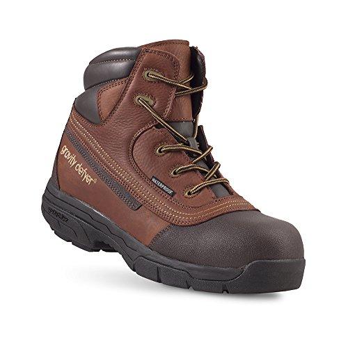 Gravity Defyer Vance Men's Boots - Waterproof, Slip-Resistant, Comfortable Work Boots - Great For Plantar Fasciitis & Heel Pain Brown