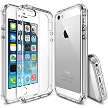 iPhone SE / 5S / 5 Case, Ringke [FUSION] Crystal Clear PC Back TPU Bumper [Drop Protection/Shock Absorption Technology] for Apple iPhone SE (2016) / 5S (2013) / 5 (2012) - Crystal View
