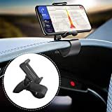 Dashboard Cell Phone Clip Holder. CAIQI 360-Degree Rotation Non-Slip Car Phone Mount, Design for 4 to 5.5 inch Smartphones,Rotating Dashboard Clip Mount Stand