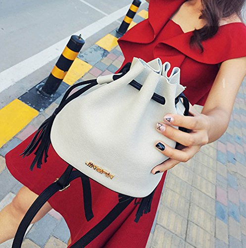 Mini Women Retro Sales ZOMUSA White Shoulder Drawstring Bucket Hot Simple Bag 7xwnqxY