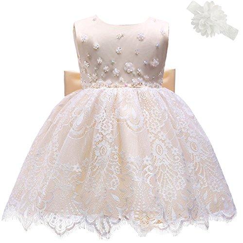 AHAHA Baby Girl Princess Wedding Dresses Baptism Christening Dresses For Baby Grils Baby Birthday Party Dress