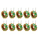 uxcell 10Pcs Horizontal Toroid Magnetic Inductor Monolayer Wire Wind Wound 1mH 10A Inductance Coil