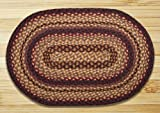 Earth Rugs 07-371 Oval Rug, 5 x 8′, Black Cherry/Chocolate/Cream For Sale