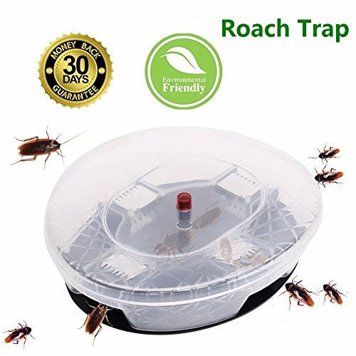 Liquid Roach Bait - Elindio Roach Killer, Non-Toxic Cockroaches Trap Reusable & Physical Capture Cockroach Traps Eco-Friendly and Safe for Kids & Pets in Kitchen Storeroom/Warehouse/Cloth-room